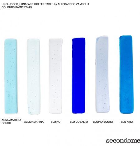 Secondome_Unplugged_Lunapark campioni vetro blu con didascalie_Alessandro Zambelli copia