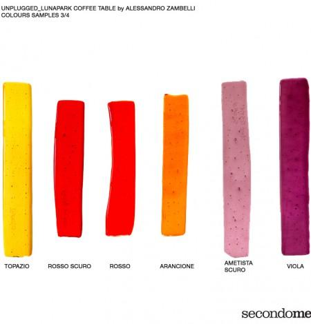 Secondome_Unplugged_Lunapark campioni vetro rossi con didascalie_Alessandro Zambelli