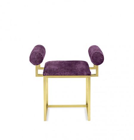 H stool COL.102 AUBERGINE