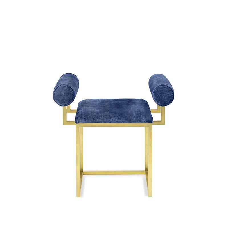 H stool COL.104 INDIGO