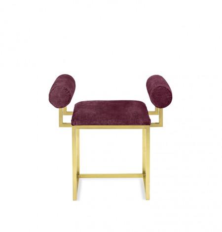 H stool COL.121 MELANZANA