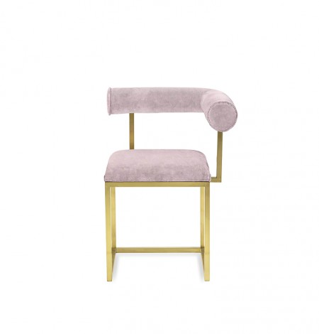 L stool COL.125 ROSE THÉ